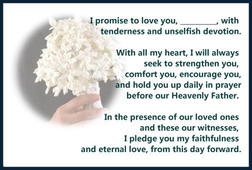 marriage vows traditional | Best Traditional Wedding Vows | Wedding Ideas