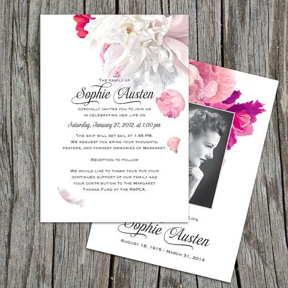 The 10 best images about Funeral invitations – Funeral Invitation Cards