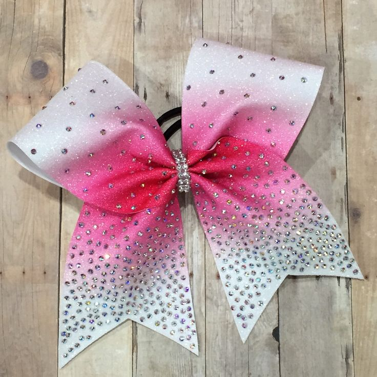 Rhinestone cheer bow, pink bow, cheerleader gift, cheerleading, Ombre bow, hot pink bow, bling cheer bow, cheap cheer bow by BoldBOWtique on Etsy https://www.etsy.com/listing/252473519/rhinestone-cheer-bow-pink-bow