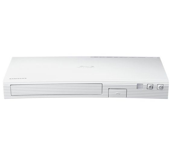 Buy Samsung BDJ5500E Smart 3D Blu-ray DVD Player - White at Argos.co.uk, visit Argos.co.uk to shop online for Blu-ray players, DVD players, blu-ray players and home cinema, Technology