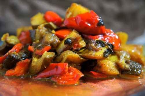 Asian inspired ratatouille (low FODMAP, vegan, gluten free)