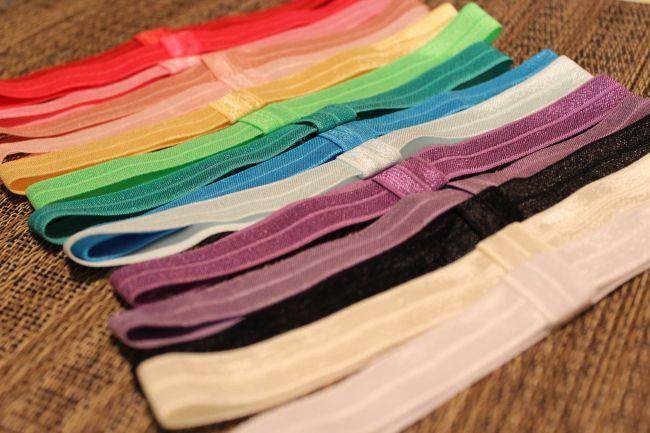 DIY elastic headbands - can interchange bows