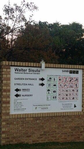 Entrance at Walter Sisulu botanical Gardens.  Www.windorpro.co.za