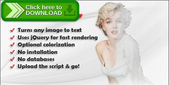 [ThemeForest]Free nulled download Live Image to ASCII Converter from http://zippyfile.download/f.php?id=47889 Tags: ecommerce, art, ascii, convert, image, live, text, upload