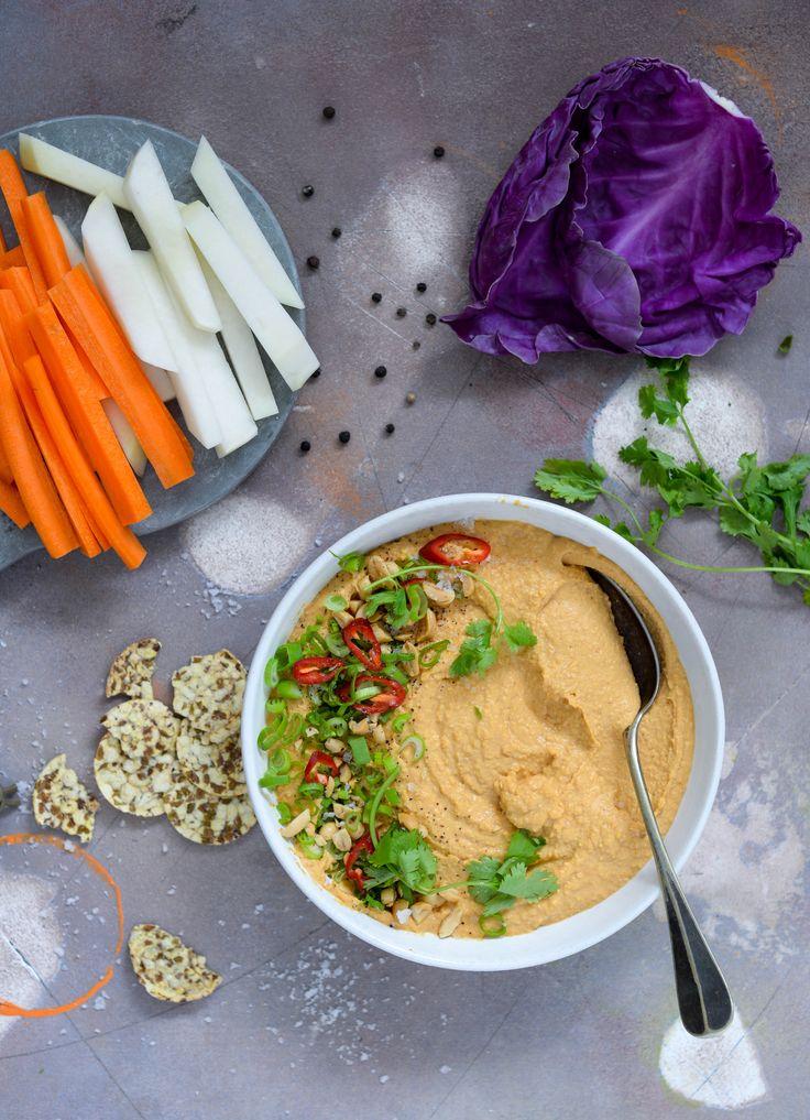 Thai peanut hummus