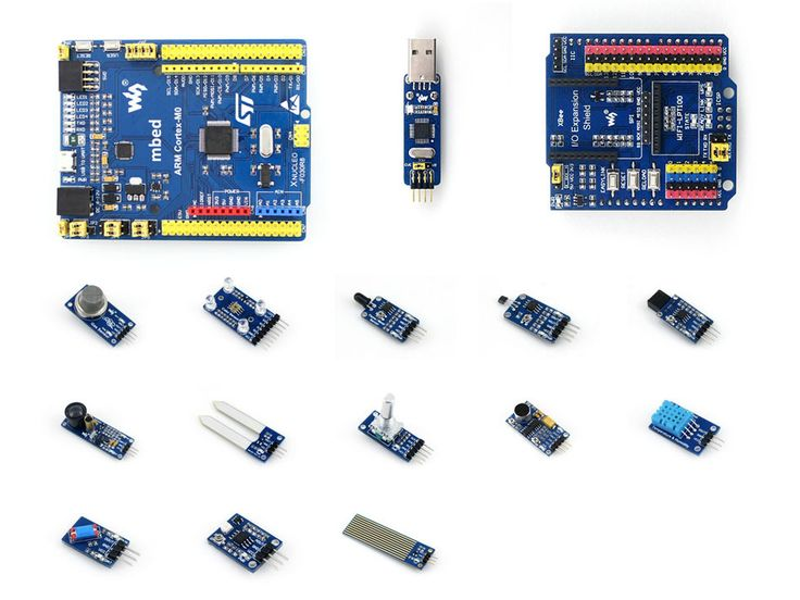 STM32 XNUCLEO-F030R8 STM32F030R8T6 ARM Cortex M0 Development Board Compatible with NUCLEO-F030R8 + IO Expansion Shield + Sensors