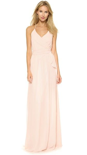 Pink Wrap Dress for Bridesmaids | Dress for the Wedding
