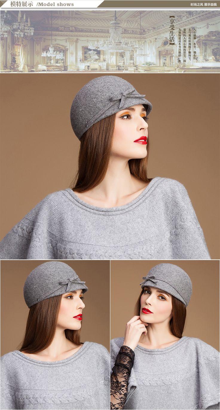 Новый 2015 осень и зима котелок для женщин мода дамы небольшой шерсть фетровая шляпа с бантом верблюд женский fedoras купить на AliExpress
