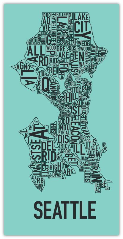 Seattle Ork Poster: http://www.orkposters.com/seattle.html: Favorite Places, Seattle Home, Neighborhood Map, Ork Poster, Neighborhood Poster, Maps, Art, Seattle Neighborhoods