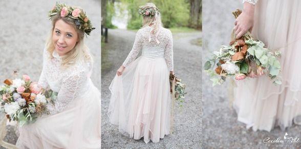 Tyllkjol Line med spetstopp Emma i stretch! Medverkade i en wedding workshop. Fotograf Cecilia Pihl