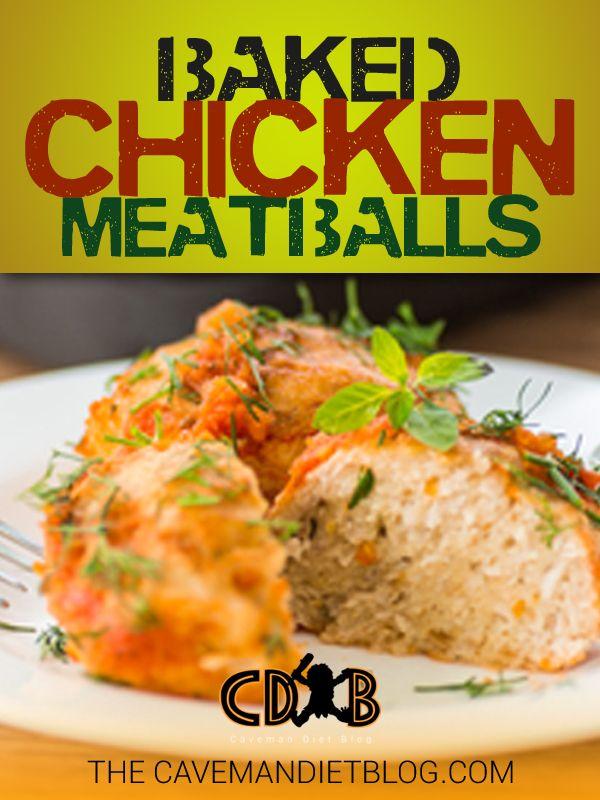 Paleo Breakfast: Baked Chicken Meatballs | Caveman Diet Blog