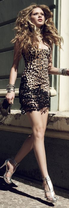 Leopard with black wild touch #fancy