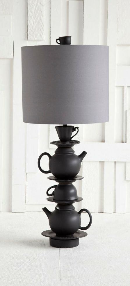 #LampsWeLove Teapot stack lamp // eclectic. industrial.