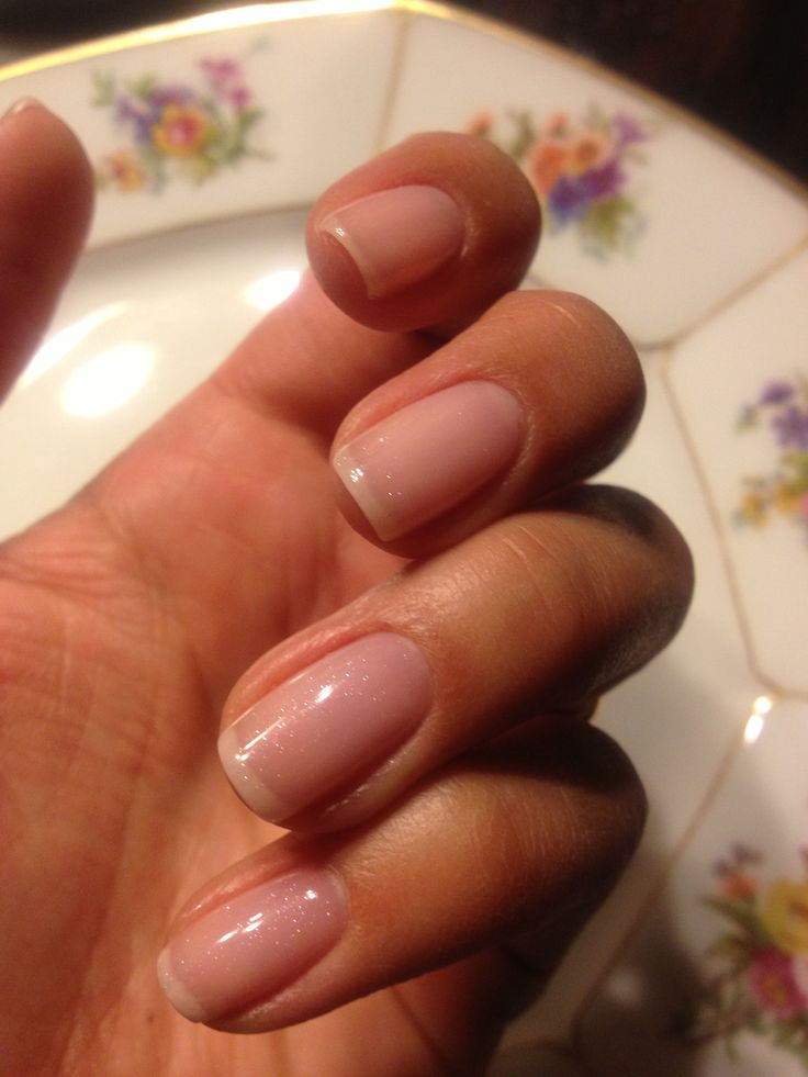 Shellac Gel Manicure Clearly Pink With Grapefruit Sparkle Beauty Pinterest Shellac Pink