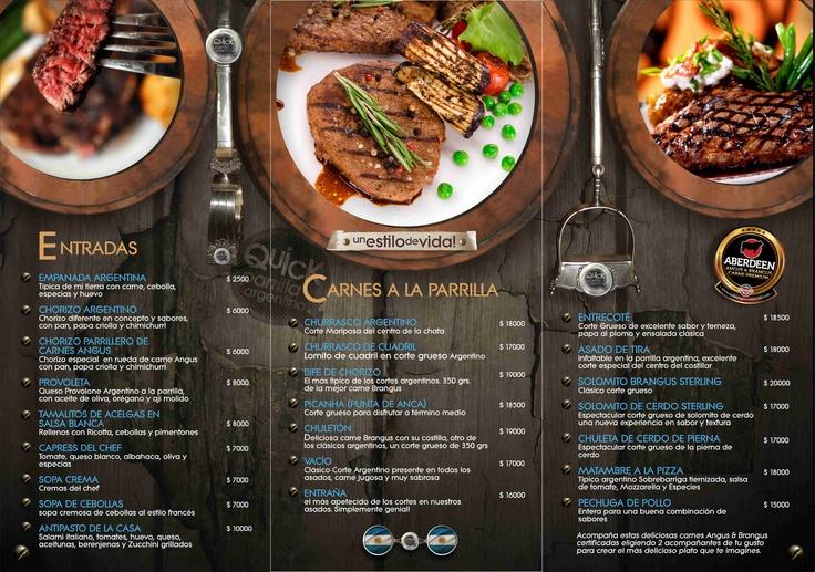 Nuestra carta con las mejores carnes de Medellin