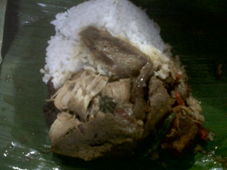 Gudeg is one of the local food of Yogyakarta area that must be tested