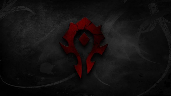 Logo Warcraft Horde Blizzard Entertainment World Of
