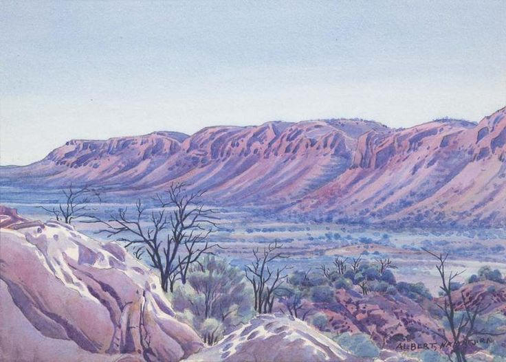 Tent Valley, James Ranges, Central Australia, Northern Territory - Albert Namatjira 1902 - 1959 -