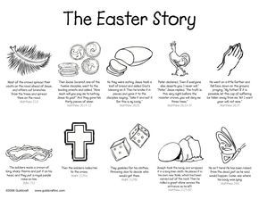 The Easter Story printable-w/o images of Christ