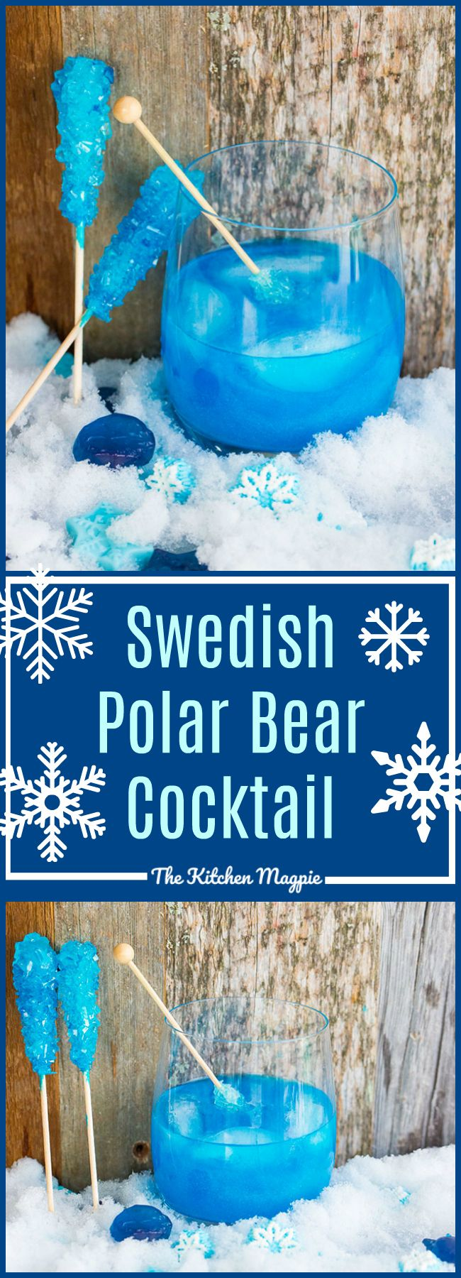 The Swedish Polar Bear Cocktail! This raspberry flavoured cocktail is THE cocktail for your winter parties! Or Tuesdays, I don't judge! Recipe from @kitchenmagpie #cocktails #christmas #raspberry #recipe #booze #boozy #holidays #entertaining