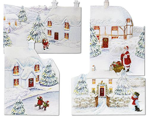 Luxury White Christmas Cards £3.50  Pack of 12 cards in 4 luxury embossed snowy designs. Left blank inside for your own message. Each card measures L16.2 x W11.4cm  Code: 907626  KLife Kleeneze