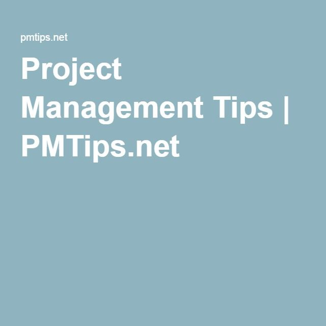 Project Management Tips | PMTips.net