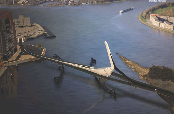 Winnend ontwerp Prins Clausbrug Stadswerven van Rene van Zuuk Architecten.