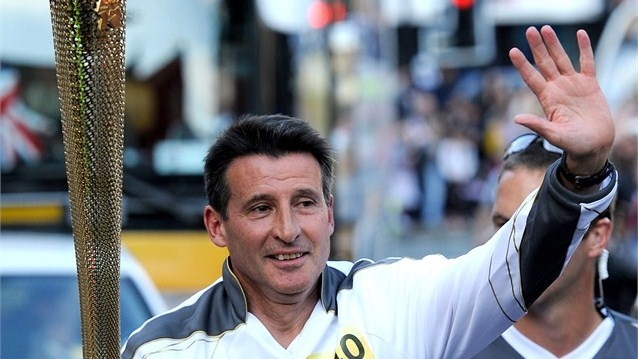 Torchbearer Lord Sebastian Coe carries the Olympic Flame through Sheffield. He went on to have a hugely successful career, winning four Olympic medals including the 1500m gold at the 1980 and 1984 Olympic Games. Before heading the bid to host the Olympics in London, and going on to become theLondon 2012 Organising Committee Chair, he served as an MP from 1992 to 1997 and was made a life peer in 2000.