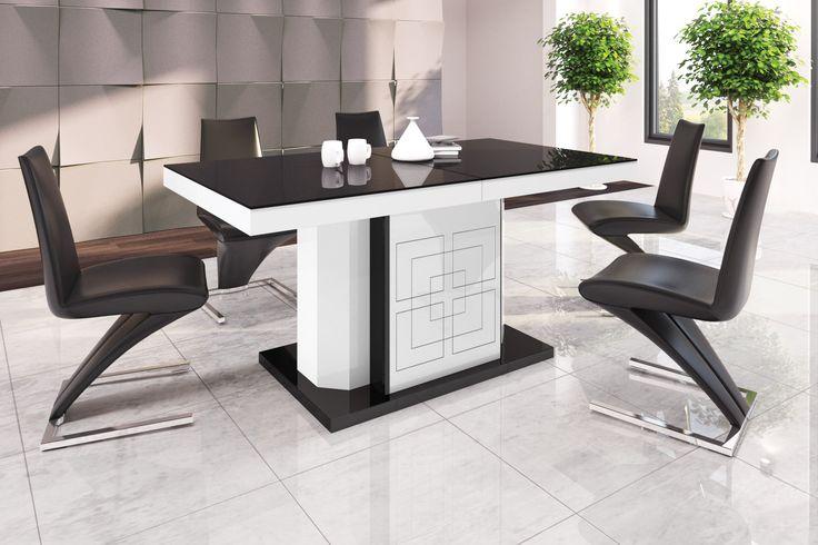 KOLOS - 1,6m rozkładany stół do 4 m. Nowoczesny stół, Hubertus, wysoki połysk, high gloss