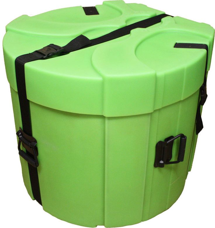 Humes AND Berg Lime Green Enduro Pro EP499LSP 12x20 Bass Drum Case With Foam #HumesandBerg