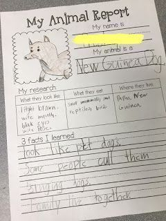 Animal Research Projects ideas for grades K-4! Great ideas to get your students excited about research!