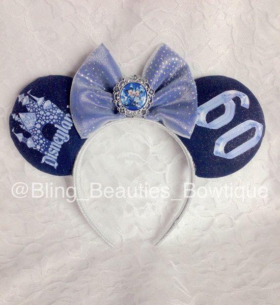 Disneyland 60th Anniversary Minnie Mouse Ears Headband Diamond Celebration