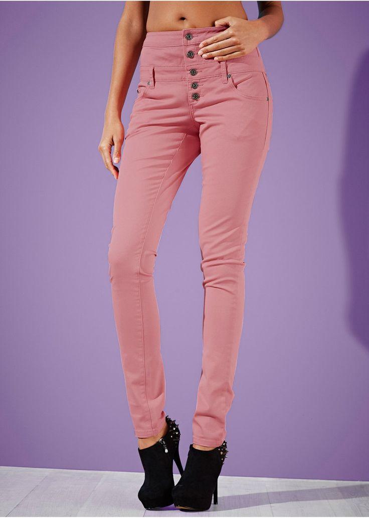 Nohavice, vysoký pás, Skinny Trendové • 24.99 € • bonprix