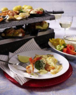 Leichtes Fisch-Raclette