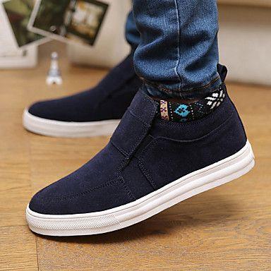 Dos homens de couro do salto plano Comfort Shoes preguiçosos (mais cores) – BRL R$ 72,64