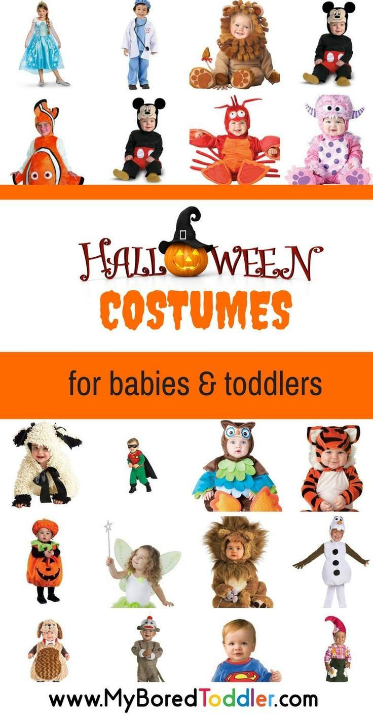 Halloween costume ideas for babies and toddlers. Perfect costumes for toddlers at Halloween, and for babies. Great Halloween costume ideas!