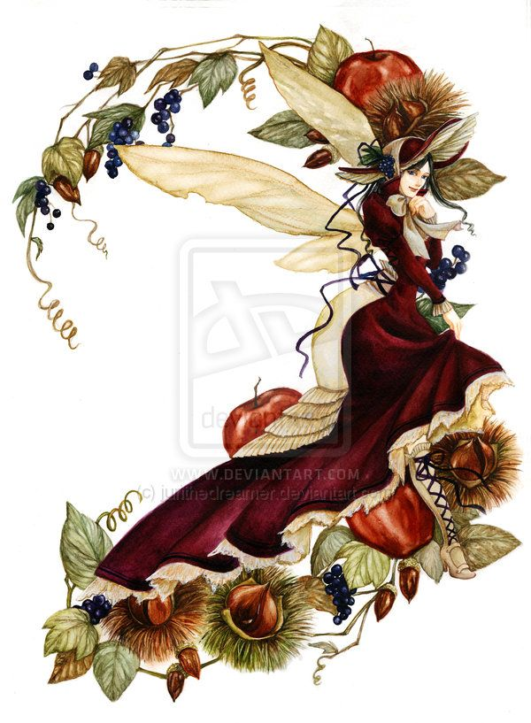 Autumn Fairy by jurithedreamer on deviantART
