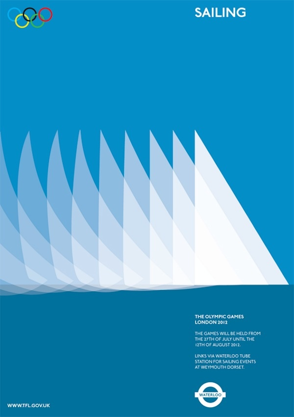 Graphic designer Alan Clarke's minimalistic take on an Olympics sailing poster.