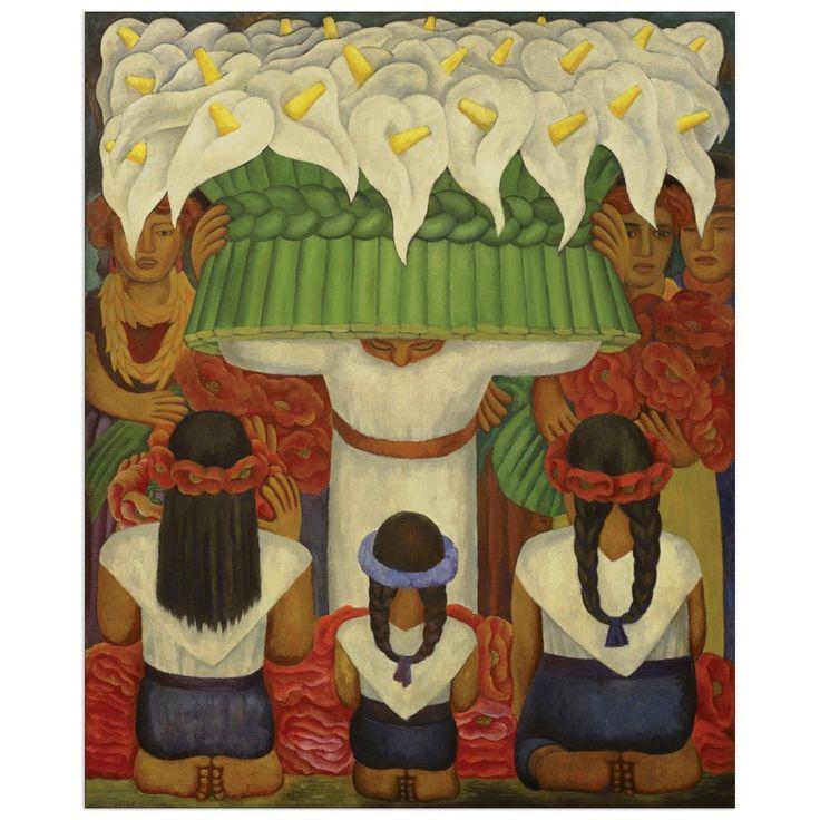 RIVERA - Flower festival feast of Santa Anita 60x73 cm #artprints #interior #design #art #prints  Scopri Descrizione e Prezzo http://www.artopweb.com/EC21743