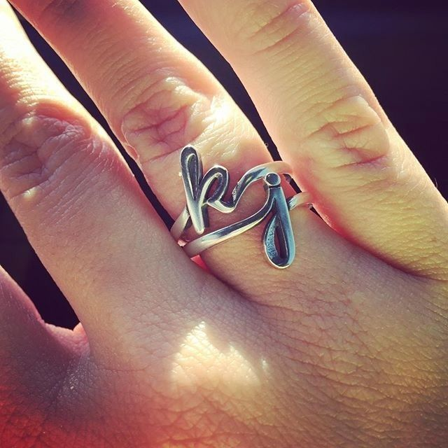 The Script Initial Ring is beautiful when worn as a single initial or stacked to form a monogram. #JamesAvery