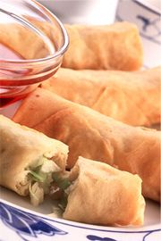 Chicken Spring Roll (Chicken Egg Roll) Recipe - Chinese Appetizer & Egg Dish - Fauzia's Pakistani Recipes - The Extraordinary Taste Of Pakis...