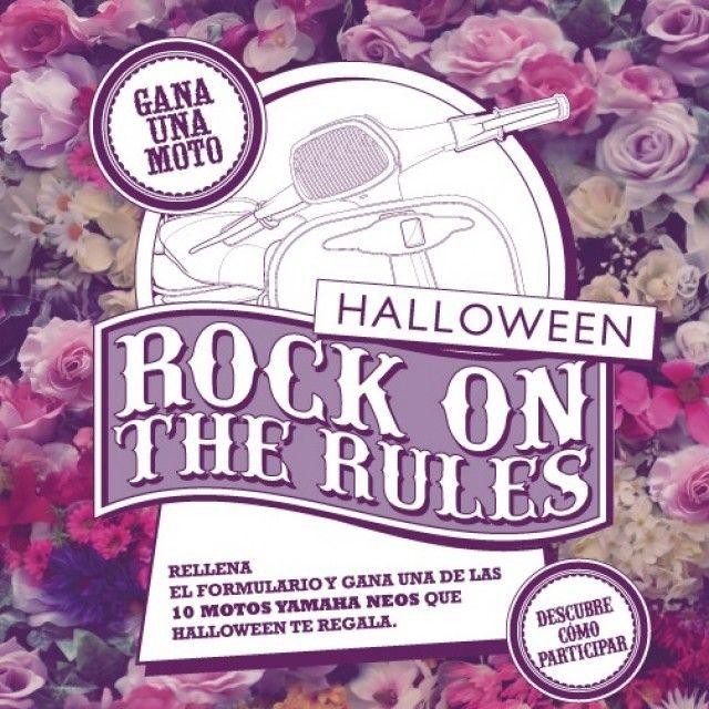 """En octubre sorteamos motos!!!! Por cada compra de fragancias de la línea Halloween cuyo importe supere los 30€ recibirás como premio un """"Bolso Halloween"""" y hasta el 31 de Octubre, además podrás participar en el sorteo de 10 motos Yamaha Neos 50CC. No olvides conservar tu ticket de compra y rellenar el formulario que aparece en la web de Halloween Perfumes. #RockOnTheRulesMot."""