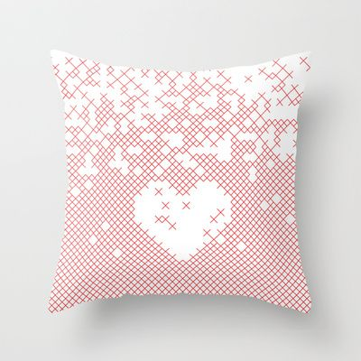 Valentine's gift. x love Throw Pillow by Spyros Athanassopoulos - $20.00  #pillow #bag #fabric