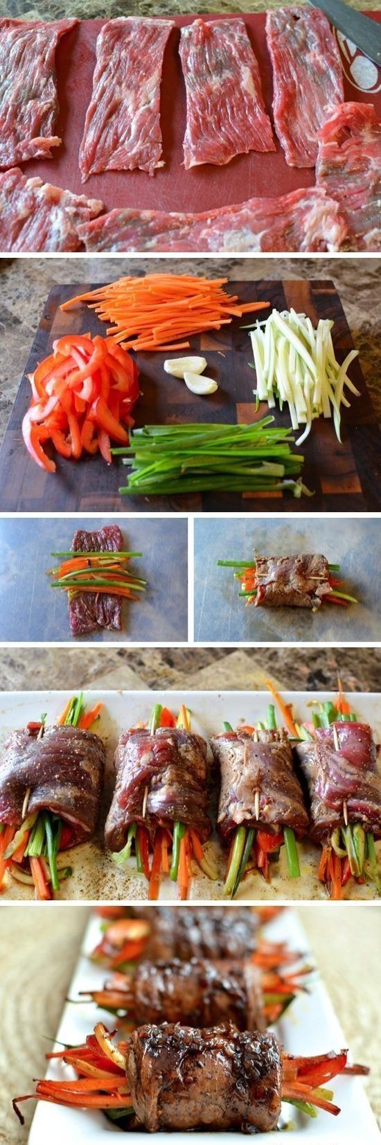 Pan Seared Steak Rolls - Love with recipe
