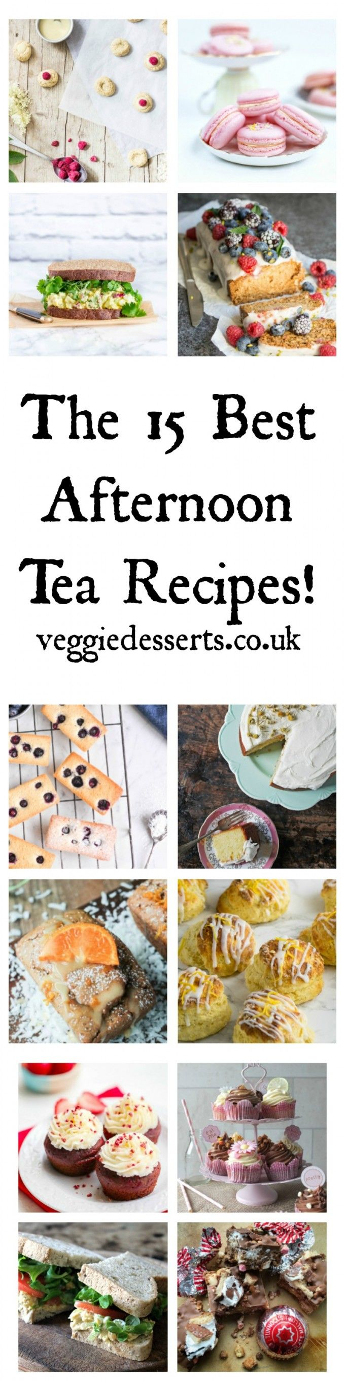 The 15 Best Afternoon Tea Recipes | Veggie Desserts Blog  Here are 15 of the best afternoon tea recipes – perfect for Mother's Day! From scones and cupcakes to sandwiches and macarons.  veggiedesserts.co.uk