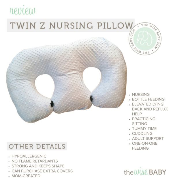 Twin Z Nursing Pillow Review (The Wise Baby) and Giveaway