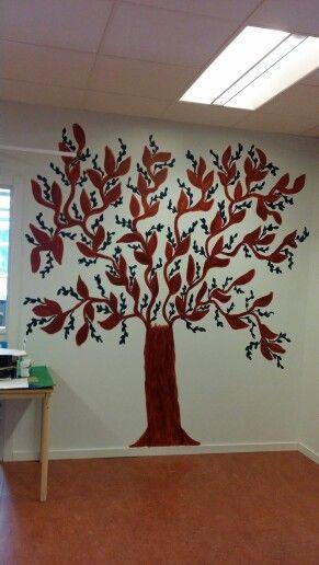 Mitt träd som jag målat på jobbet