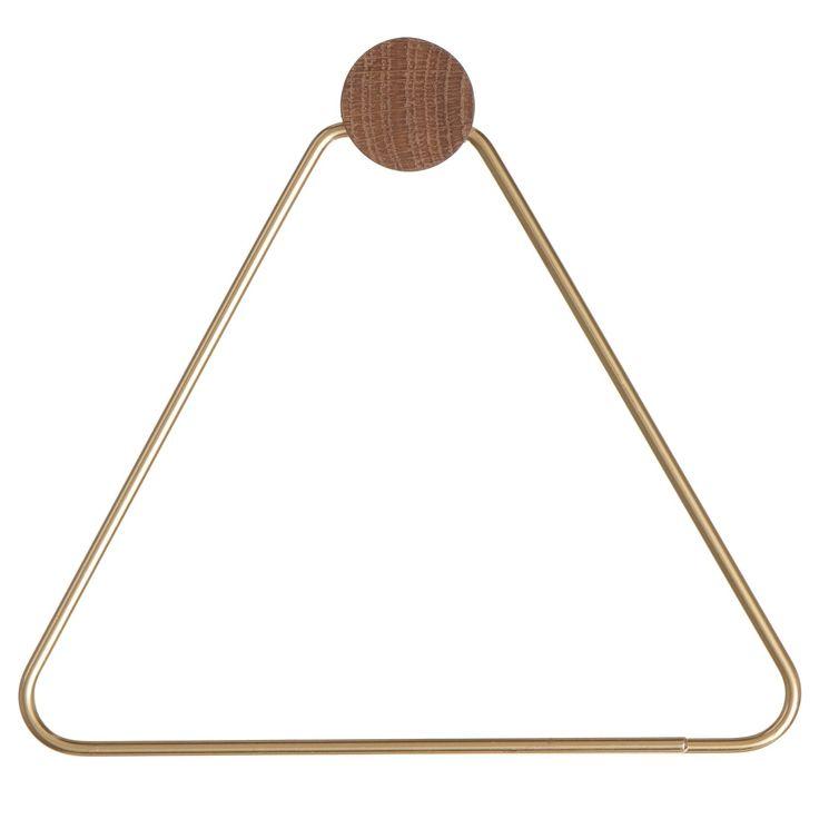 Brass hängare, triangle i gruppen Inredningsdetaljer / Småförvaring / Krokar & Hängare hos RUM21.se (129485)