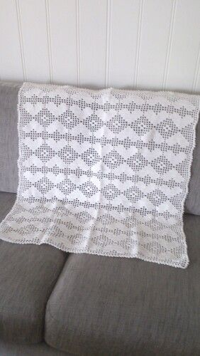 Crochet baby blanket- heklet vognteppe