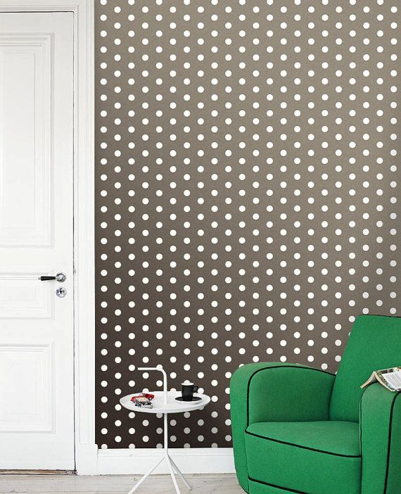 Polka dot selfadhesive modern vinyl Wallpaper by PatPrintbyAmy